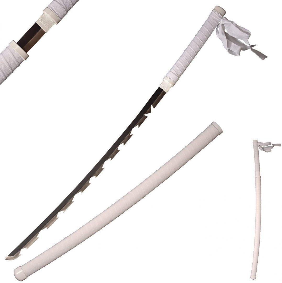Katana hecha a mano de espada en Acero Demon Slayer Inosuke Manga Kimetsu No Yaiba
