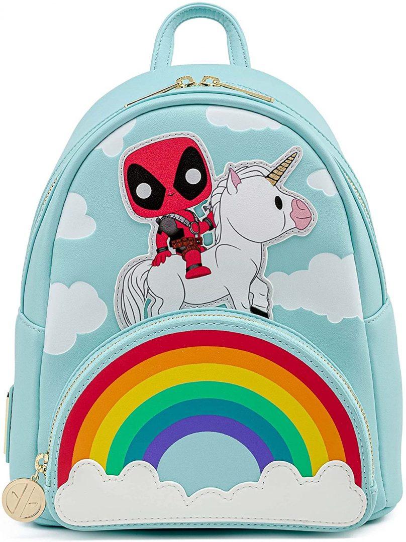 Maleta Loungefly POP Marvel Deadpool 30th Anniversary Rainbow Uniform