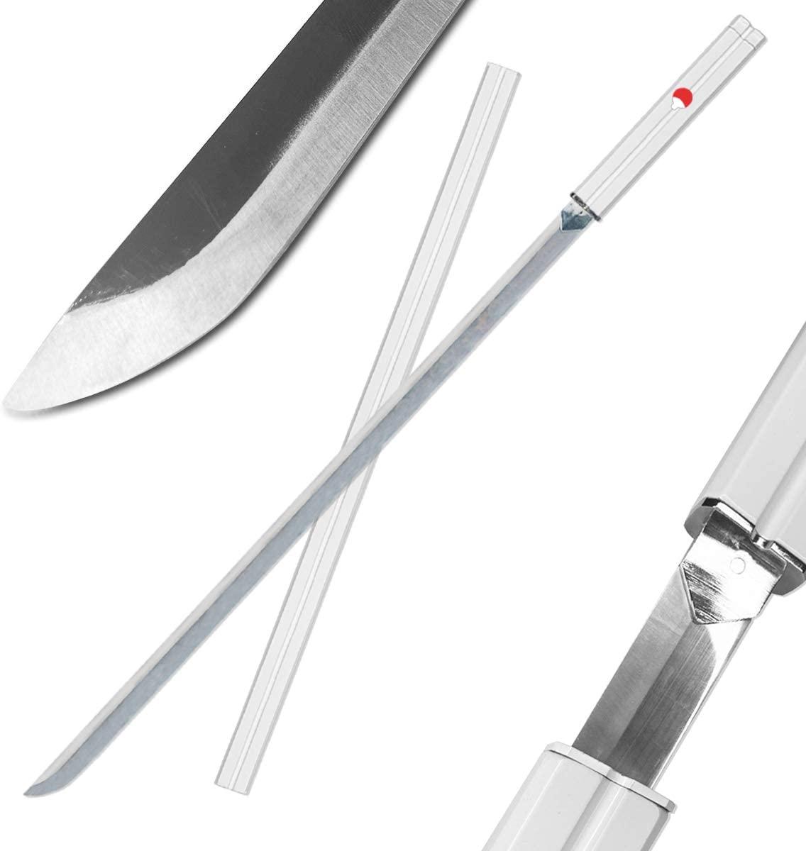 Katana hecha a mano de espada en Acero Sasuke Naruto Anime
