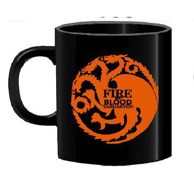 Mug Tallado Casa Targaryen Fuego Y Sangre TooGEEK Juego de Tronos Series