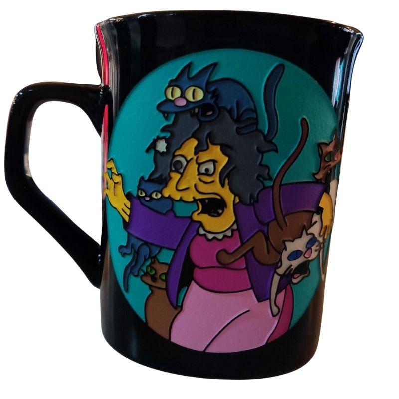 Mug Tallado Eleanor TooGEEK Los Simpsons Animados La loca de los gatos
