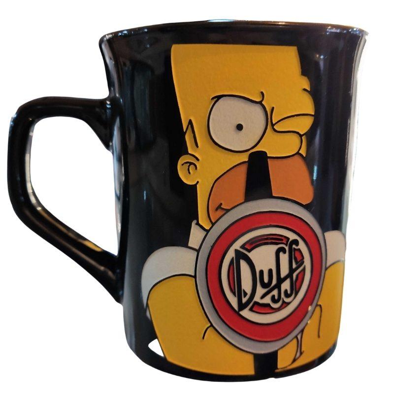 Mug Tallado Homero Duff TooGEEK Los Simpsons Animados