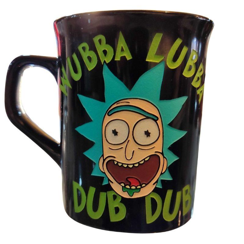 Mug Tallado Wubba Lubba Dub Dub TooGEEK Rick And Morty Animados
