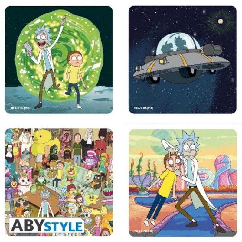 Portavasos Rick & Morty AbyStyle Rick And Morty Animados Set X4