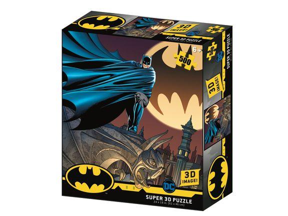Rompecabezas Batman Dc Comics Batman Frente a la Batiseñal Holograma prime 500 Piezas