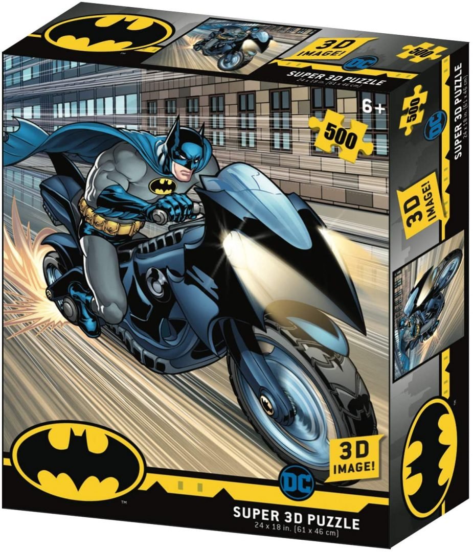 Rompecabezas Batman Dc Comics Batman en la Batimoto Holograma prime 500 Piezas