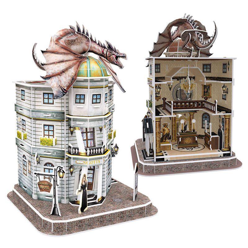 Rompecabezas Harry Potter Fantasìa Dragon Sobre Banco de Gringotts 3D