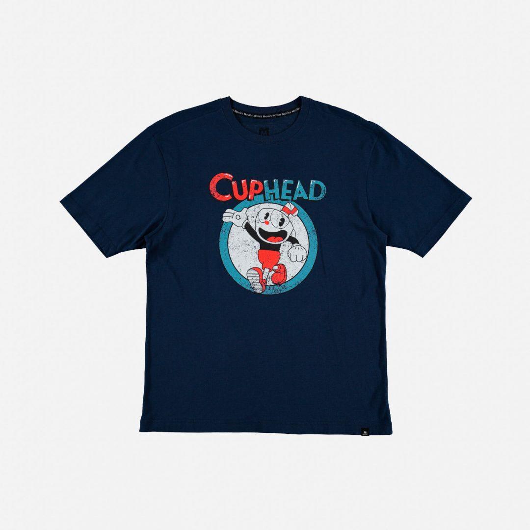 CAMISETA Cuphead Mic Movies Videojuegos Hombre Color Azul Con Personaje Varicolor Talla S