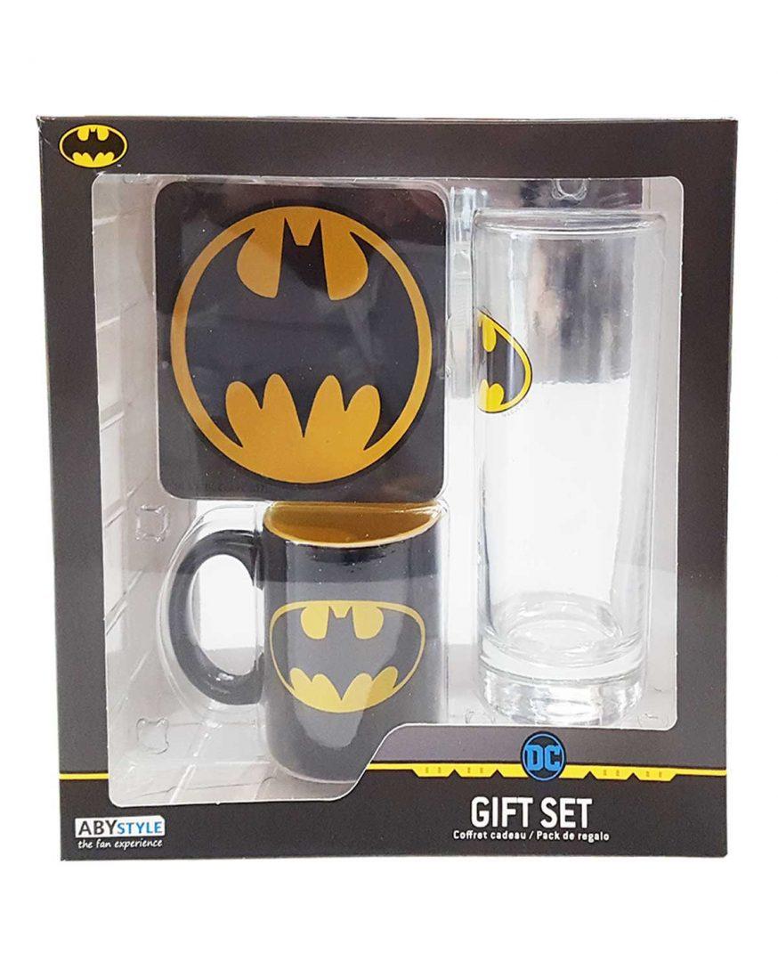 Set de Regalo Batman AbyStyle Batman DC Comics Set de Regalo X 1 Vaso, 1 Mug y 1 Portavasos