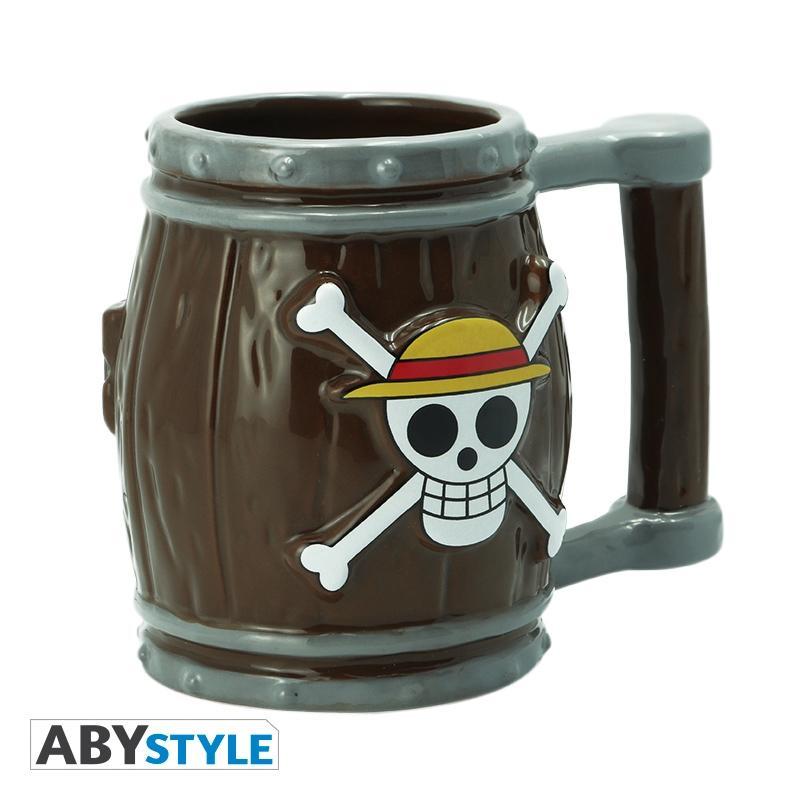 Mug Ceramico Barril Mugiwara AbyStyle One Piece Anime Mug 3D Ceramico