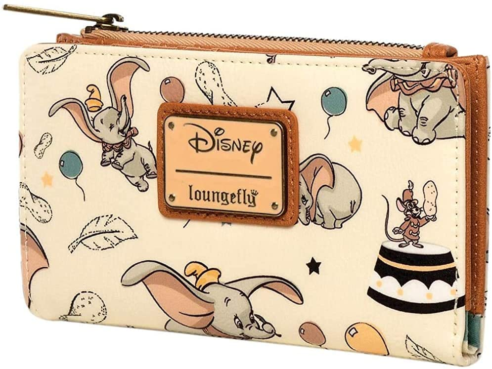 Cartera de piel sintética con solapa Loungefly Disney Dumbo