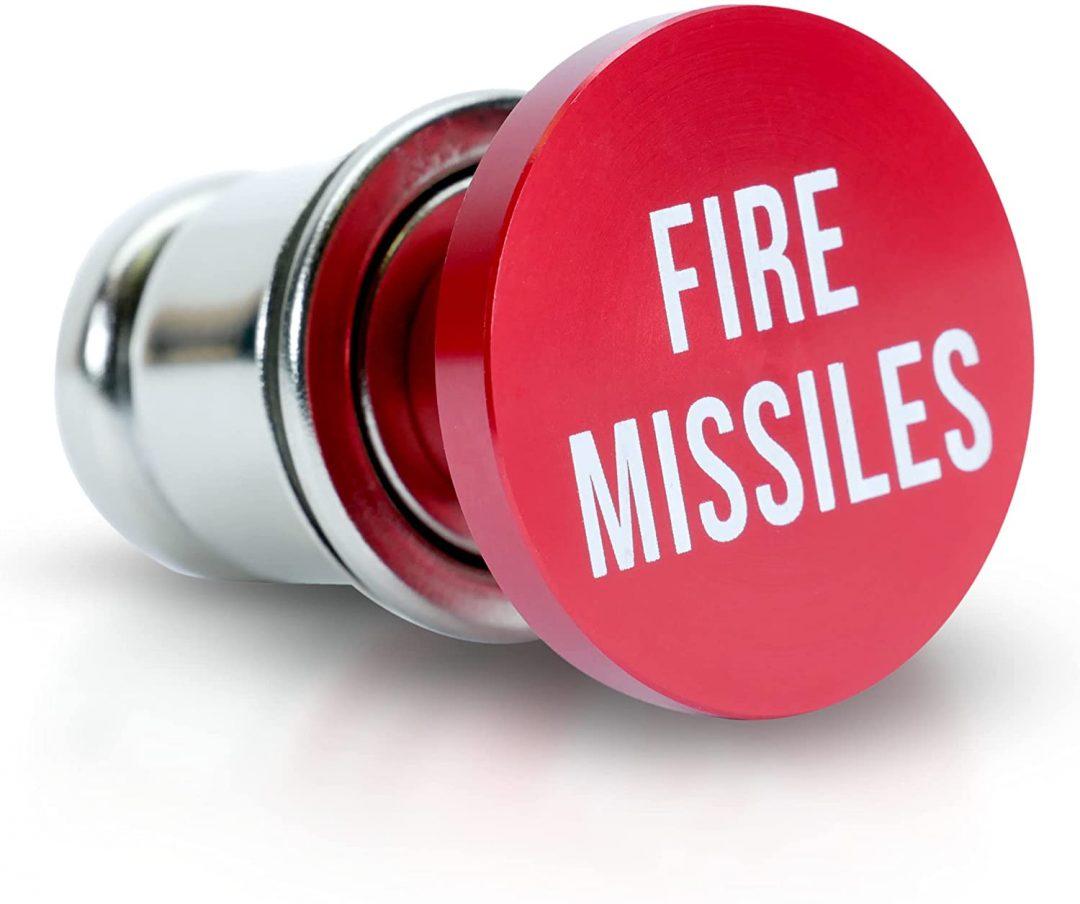 OMNI Factory - Botón de lazar misiles para encendedor de coche con diseño universal