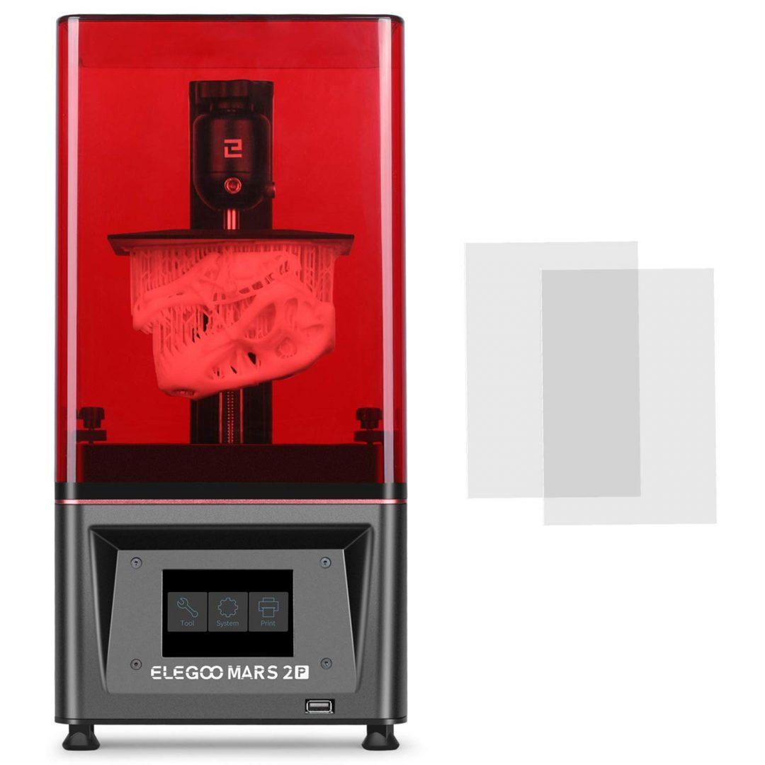 ELEGOO Resina 3D Impresora Marte 2 Pro Mono MSLA Impresora 3D UV fotocurado LCD Resina Impresora 3D con 6.08 pulgadas 2K LCD monocromo