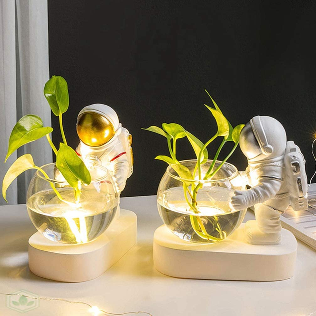 Lámpara OSALADI Astronautas jarrón hidropónico de cristal transparente Iconos