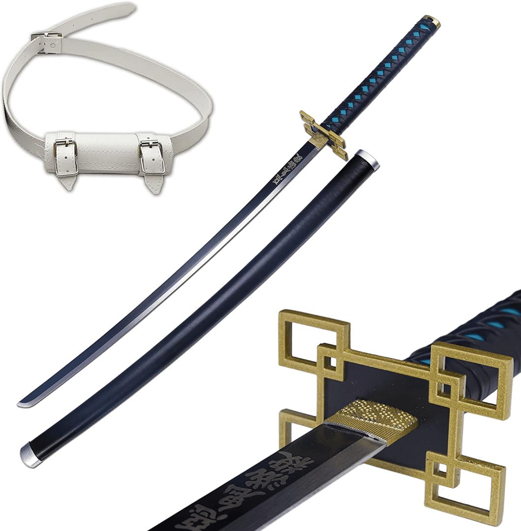 Katana hecha a mano de espada en Acero Demon Slayer Tokitou Muichirou Manga Kimetsu No Yaiba