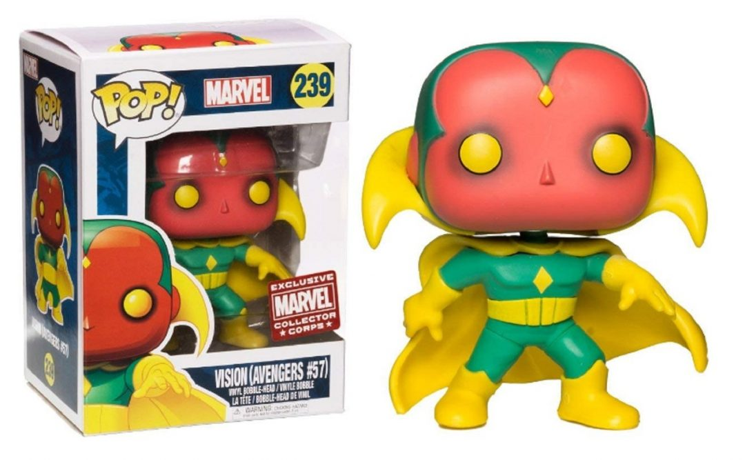Figura Vision Funko Pop! Marvel Avengers # 57 Exclusive Collector Corps