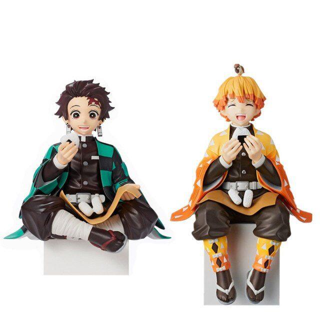 Set Figuras Tanjiro y Zenitsu PT Kimetsu No Yaiba Anime Comiendo (copia)