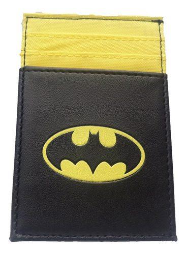 Portadocumentos Batman Dc Comics Color Negro y Amarillo