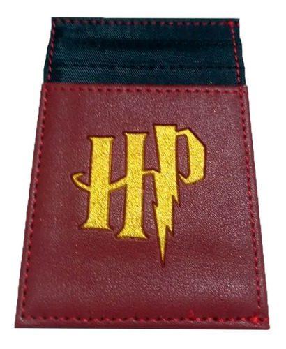 Portadocumentos Harry Potter Fantasía Color Vino Tinto y Negro