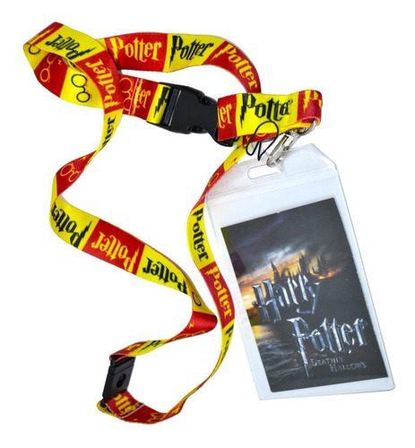 Porta carnet Harry Potter Fantasìa Clolor Rojo con Amarillo Logo de Harry Potter