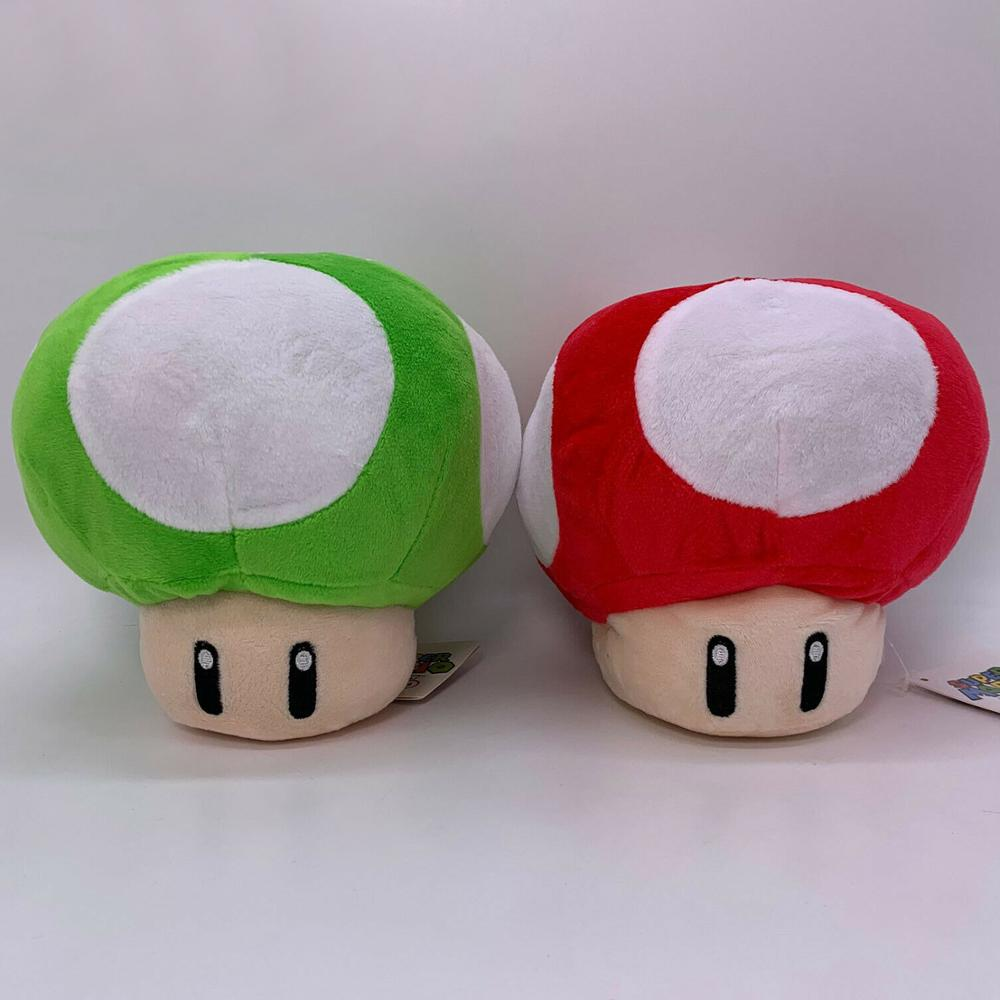 Peluche Hongos Mario Bros Videojuegos Verde/Rojo