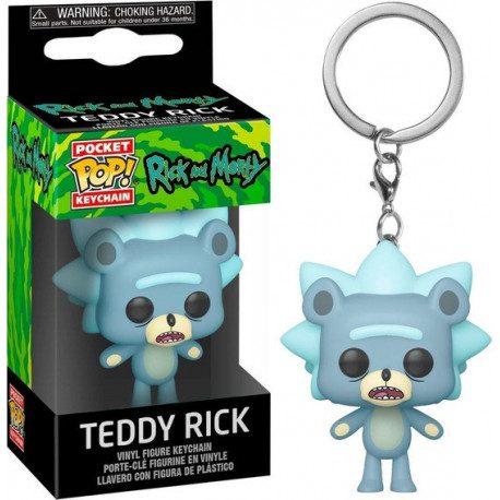 Llavero Teddy Rick Funko Pop Rick y Morty Animados