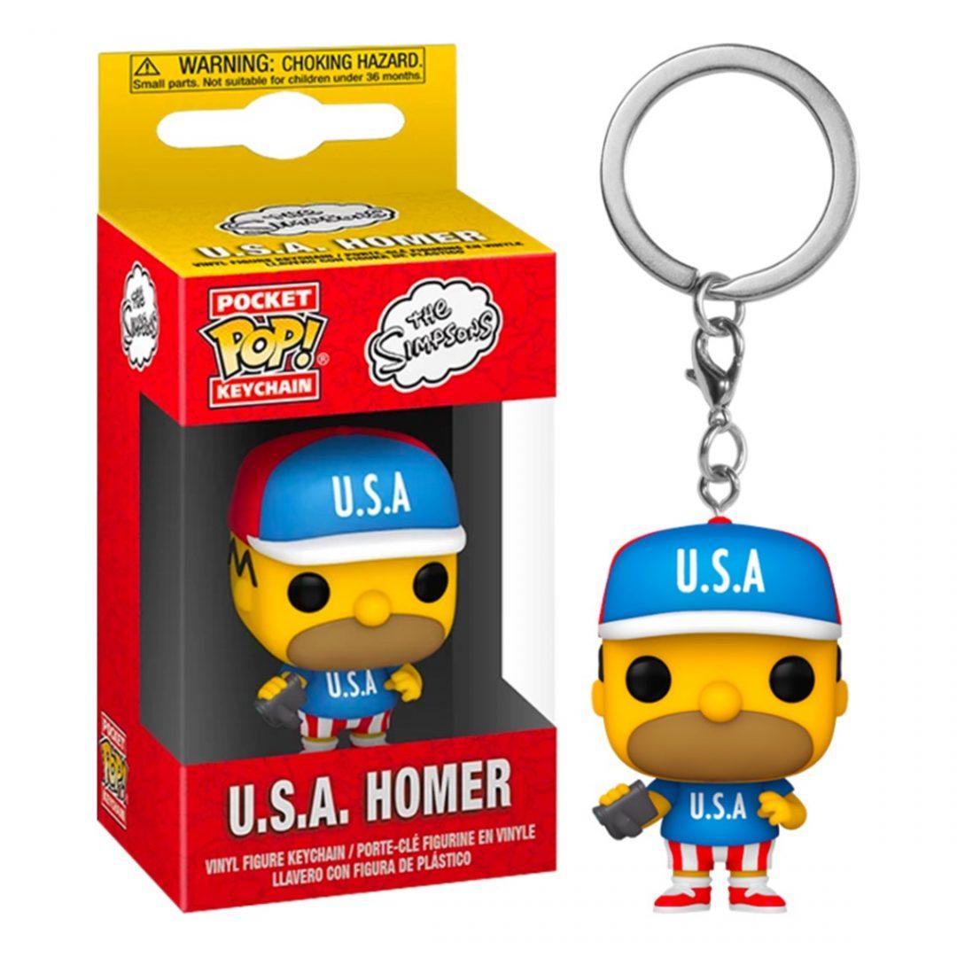 Llavero U.S.A. Homero Funko Pop Los Simpsons Animados