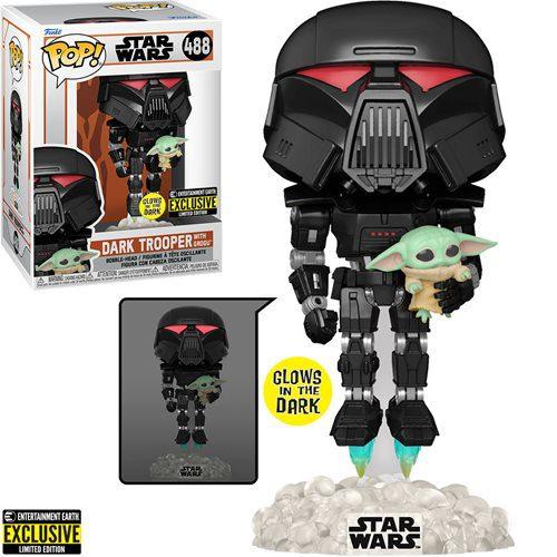 Figura Trooper Oscuro Con Grogu Glow In The Dark Funko Pop The Mandalorian Star Wars Exclusivo Entertainment Earth (Pre-Venta Llegada Aproximada Diciembre 2021 - Enero 2022)