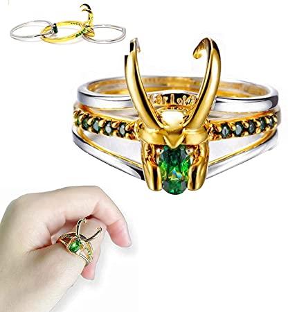 Anillo Loki PT Marvel Fantasía (Preguntar Disponibilidad Talla Antes)