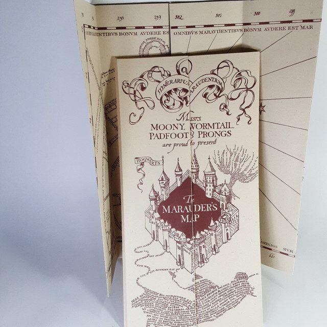 Replica Mapa del Merodeador PT Harry Potter Fantasía Grande