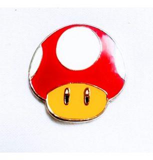Pin Hongo TooGeek Mario Bros Videojuegos Verde Y Rojo Color